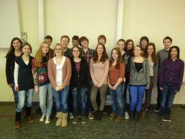 Abibac-Gruppe des 11. Jahrgangs der Käthe-Kollwitz-Schule, Gymnasium in Hannover